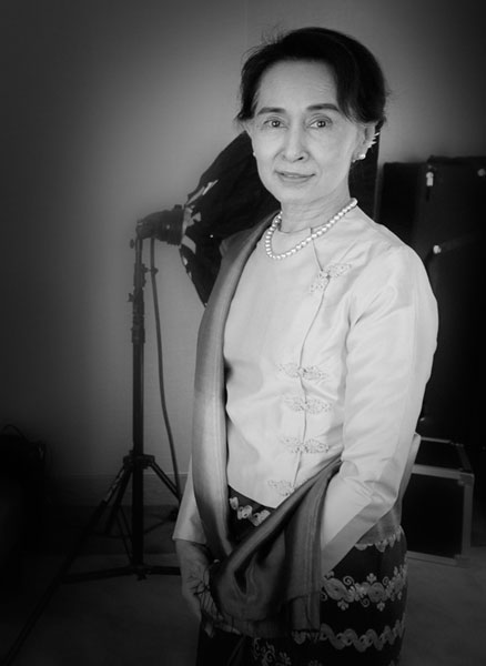photographies pour la venue de Aung San Suu Kyi