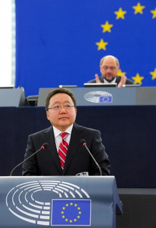Official visit of the President of Mongolia to the European Parliament in Strasbourg