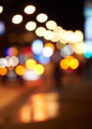 Une flaque de lumière
